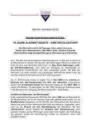 PRESSE-INFORMATION 15 JAHRE ALKOMAT-GESETZ – EINE - KfV