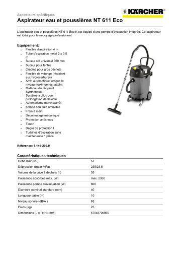 aspirateur eau et poussieres nt 611 eco k
