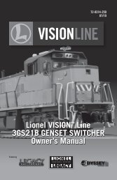 vision 3gs21b genset manual - Lionel Trains