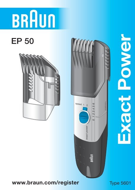 Exact Power - Braun Consumer Service spare parts use instructions ...