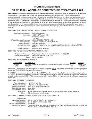 ASPHALTE POUR TOITURE ET EASY-MELT 200 - Iko