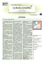 La Roche Actualités n° 21.1.pub - Association de La Roche