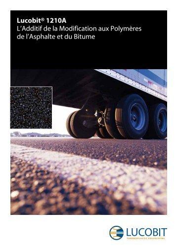 Lucobit® 1210A L'Additif de la Modification aux ... - Lucobit AG