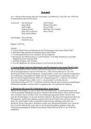 Protokoll vom 15.06.2011 - Sölden