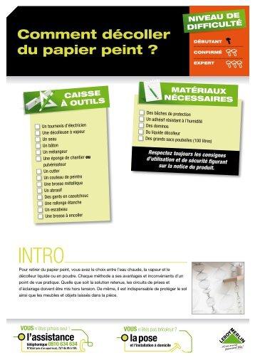 Comment poser des ardoises leroy merlin for Comment decoller papier peint