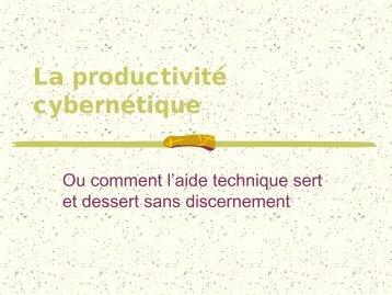 La productivité cybernétique - Université Rennes 2