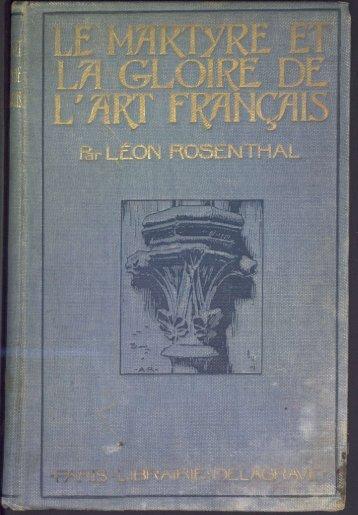 Le Martyre et la gloire de l'Art français