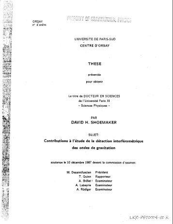 DAVID H. SHOEMAKER - LIGO - Caltech