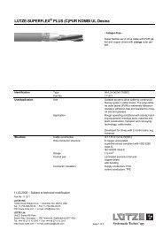 LUTZE-SUPERFLEX PLUS (C)PUR KOMBI UL Desina - Farnell