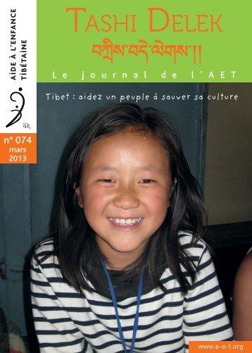 Télécharger le TD 74 en format PDF - Aide à l'enfance tibétaine