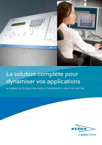 Télésurveillance Flygt APP 700 - Water Solutions