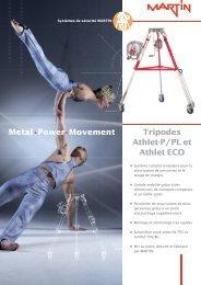 Tripodes Athlet-P / PL et Athlet ECO Metal.Power.Movement