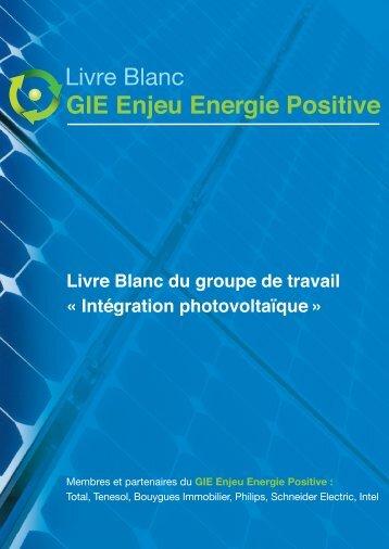 Le Livre Blanc Photovoltaïque - Enjeu Energie Positive