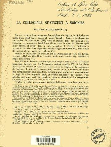 /9c; LA COLLEGIALE ST-VINCENT A SOIGNIES (2)