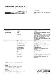 LUTZE-SUPERFLEX -BUS (C) PUR UL - Farnell