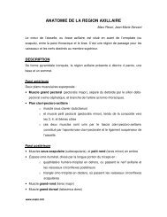 ANATOMIE DE LA REGION AXILLAIRE