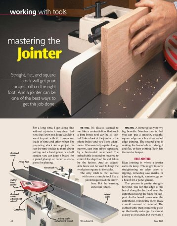 Mastering the Jointer - Woodsmith Woodworking Seminars