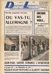 OU VAS-TU, AllEMAGNE 1 - Archives du MRAP