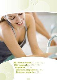 WC et lave-mains p. 210 à 215 Bâti-supports p. 216 à 218 ... - MILER