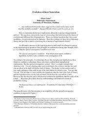 Evolution without Metaphysics - CiteSeerX