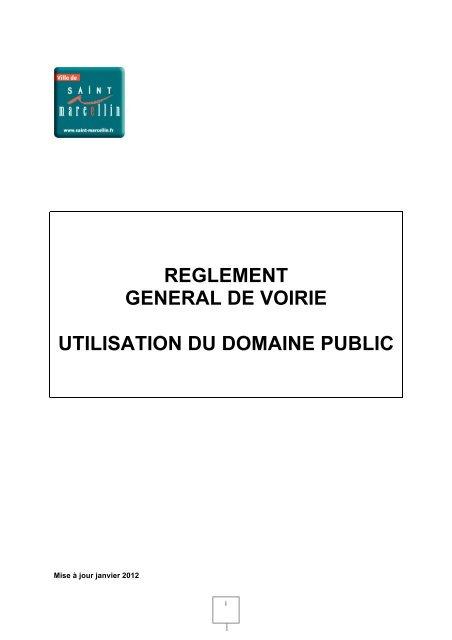 Règlement Général De Voirie Saint Marcellin