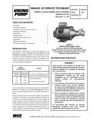 Viking Pump Technical Service Manual 320.1 for General Purpose ...