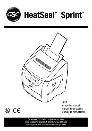 Gbc Heatseal h800pro Manual