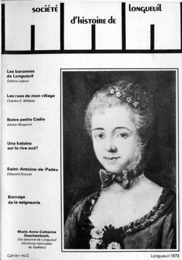 Disponible en ligne - Société d'histoire de Longueuil