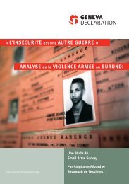 anaLyse de la vioLence armée au burundi
