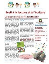 Éveil à la lecture et à l'écriture - Centre de la petite enfance Québec ...