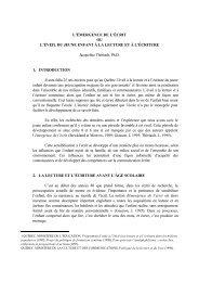 L'ÉMERGENCE DE L'ÉCRIT OU L'ÉVEIL DU JEUNE ENFANT À LA ...