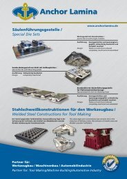 Components for the press manufacturing - Anchor Lamina