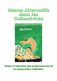 Brochure « menus Alternatifs dans les Collectivités - Association ...