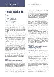 littérature Henri Bachelin l'éveil, la réussite, l ... - Vents du Morvan