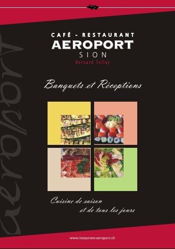Menu Mariage et Dossier Banquet - Café-Restaurant de l'Aéroport