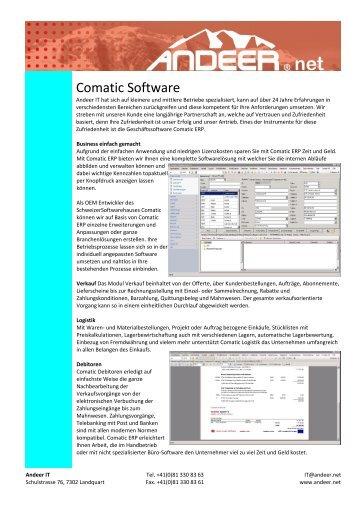 Download Prospekt - andeer.net Software