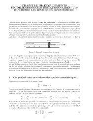 CHAPITRE III: ECOULEMENTS UNIDIMENSIONNELS ... - Ensta