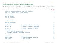 Lattice Boltzmann Equation: D2Q9 Model Simulation