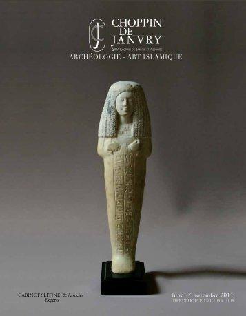 archéologie - art islamique lundi 7 novembre 2011 - cabinet slitine