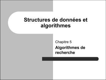 Structures de données et algorithmes