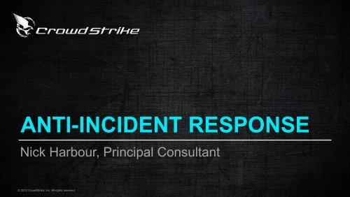 Anti Incident Response - SANS Computer Forensics