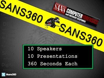 DFIR SANS360 Talks