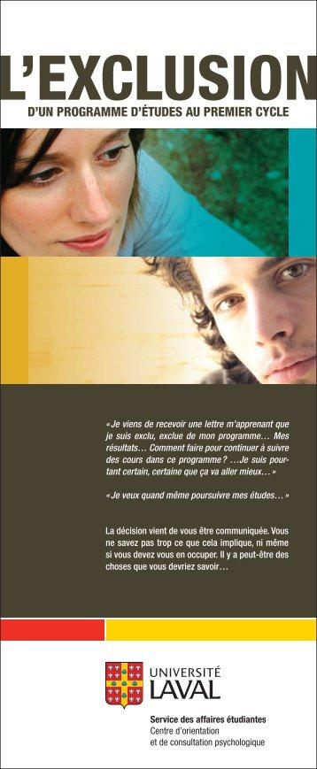 Brochure COCP.indd - Centre d'aide aux étudiants - Université Laval