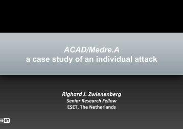 ACAD/Medre.A a case study of an individual attack - SANS ...