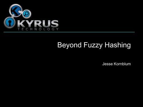 Beyond Fuzzy Hashing - SANS Computer Forensics