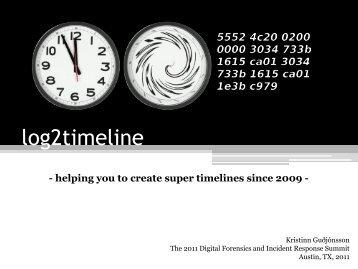 log2timeline Since 2009 - SANS