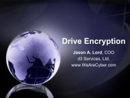 Drive Encryption - SANS Computer Forensics