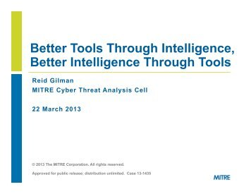 Better Tools Through Intelligence, Better Intelligence Through Tools