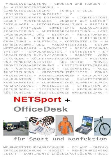 Netsport + Officedesk - andeer.net Software