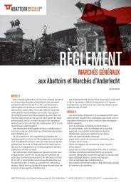 MARCHÉS GÉNÉRAUX aux Abattoirs et Marchés d'Anderlecht